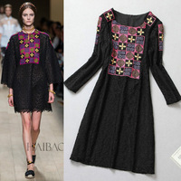 Women's t embroidered elegant one-piece dress spring dress fashion dress