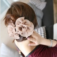 9.9 handmade hairpin exquisite chiffon rose gripper hair caught female accessories