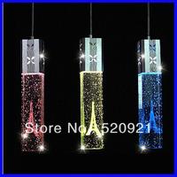 AC85-265V Modern brief led restaurant light crystal pendant light bar lamp lighting lamp crystal dining room/ living room light