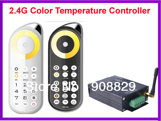 LED controller Touch pannel Color Temperature Controller Wireless 2.4G Remote 240Watts for LED RGB Color Temperature Controller(China (Mainland))