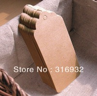 E2 Brown Kraft Paper Tags - Large Kraft Tags 100pcs/lot 4.5*9.5cm  Free Shipping