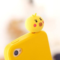 Korean cute  chicken Design Mobile Phone Ear Cap Dust Plug   NP366