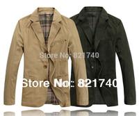 2014 new blazer suit plus size 4XL 5XL 6XL 7XL female men blazer designs jacket  winter coat fashion outerwear Khaki OT1396