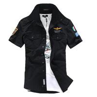 Fashion military uniform camouflage short sleeve shirt man cotton shirt free shipping Ccy60