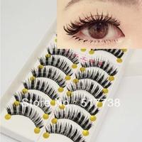 Natural Long Black Thick False Eyelashes Eyelash Fake Eye Lashes 054