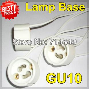 50pcs/lot, GU10 lamp base, GU10 buld Light socket, LED buld spot lamp aging test stand holder, free shipping(China (Mainland))