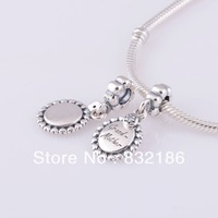 Love My Grandmother 100% 925 Sterling Silver Dangle Charm Beads Gift for Grandmom, Fits for Pandora Bracelet DIY Making LW310