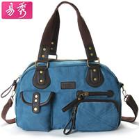 New arrive 2014  women's canvas bags shoulder  6 Candy Colors Messenger Bag casual  handbag Free shipping