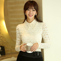 2013 winter new large size women's clothing thick warm velvet doll collar bottoming shirt Lei Sijia