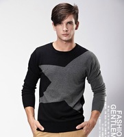 The Knitwear of Pure cotton New Autumn Winter sweater for Men's Hit color Slim pullover and Fast Shipping Size M To XXL