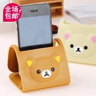 Popular relaxed bear series cell phone holder mount folding fitted seat mobile phone holder cell phone holder(China (Mainland))