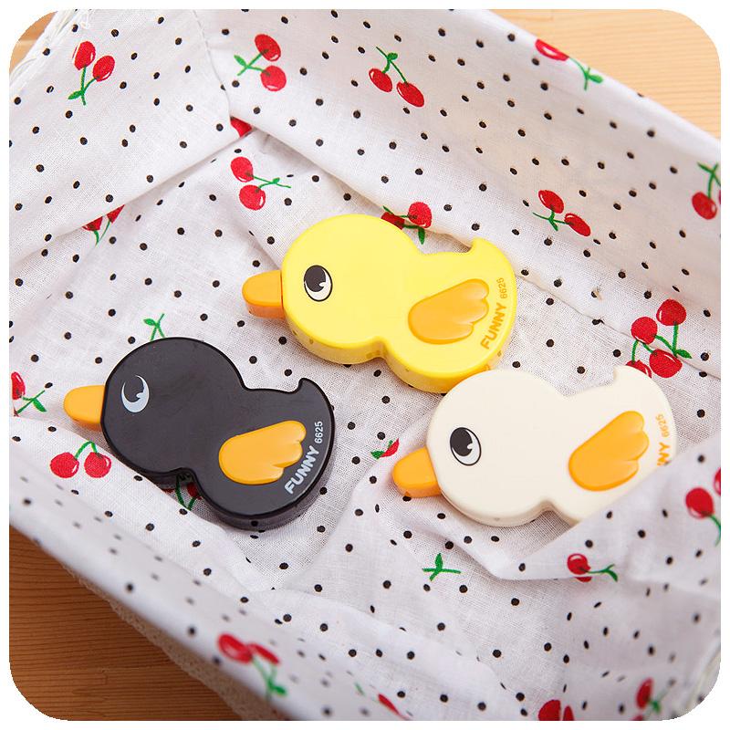Free shipping 20pcs/lot Korea stationery little duck correction tape ultralarge length rasure belt 6m(China (Mainland))