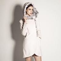2013 winter rabbit fur slim elegant overcoat d220