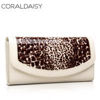 Leopard print wallet female 2013 wallet women's wallet cowhide long design leopard print wallet female