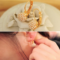 Min Order $15(mixed order)   accessories pearl round stud earring female fashion earrings anti-allergic earring  0201