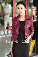XS-XXL free shipping 2013 new winter women plus size coat the short paragraph diagonal zipper motorcycle leather jacket WLJ13047