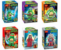 Decool Teenage Mutant Ninja Turtles Minifigure 6pcs/lot Building Blocks Sets Figure Legoland DIY Bricks toys for children