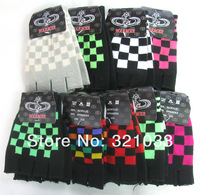 Lot 10 Pairs Mix color Checked Fingerless Gloves Holiday Gifts Free Shipping