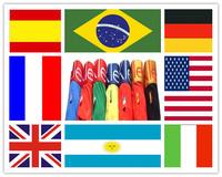 High quality 10pcs a lot  Brazil World CUP Sexy Men's Underwear Boxers Modal Man Flag Boxer shorts Men Underwear Free Shipping