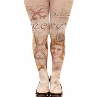G grimoire vintage socks spring and autumn 80G velvet  women pantyhose stockings socks warm tattoo tights for girls  501G