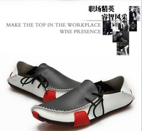 fashion Mens Casual Shoes Genuine Leather Driving Moccasins Slip On White Brown Grey Black EUR SIZE 39 40 41 42 43 44