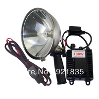 HID searchlight 100W best handheld spotlight for agriculture hunting camping boating emergency lighting free shipping