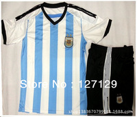 ^_^ 2014 world cup Argentina home thailand A+++ quality brasil white  top quality soccer jerseys free shipping customized free