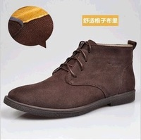 Winter shoes male high-top shoes male the trend of shoes fashion casual cotton leather boots suede board shoes male