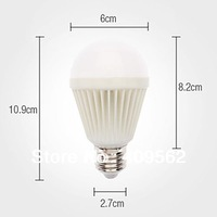 E27 5W 350M-420LM Light LED Ball Bulb (110-240V)LED Ball Bulb with graphite ,2.88USD Ex-works in aliexpress