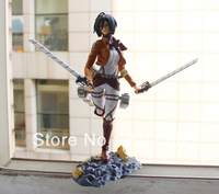 Attack On Titan Shingeki no Kyojin Mikasa Ackerman pvc 21cm color box free shipping 10 boxes/Set