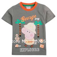 NEW Free shipping 5pcs/lot  children clothes boy short sleeve t-shirt boy cartoon  tops boys cool tees