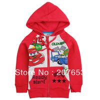 NEW Free shipping 5pcs/lot children clothes boy  outerwear boy character jacket boy zipper hooded car coat  1-6years