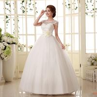 Bride bandage lacing paillette princess wedding dress slim bridesmaid dress free shipping