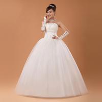 The bride wedding dress formal  bridesmaid dress plus bow lacing straps free shipping