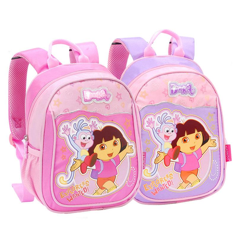 Venda quente Dora the Explorer mochila escolar crianças saco frete grátis(China (Mainland))