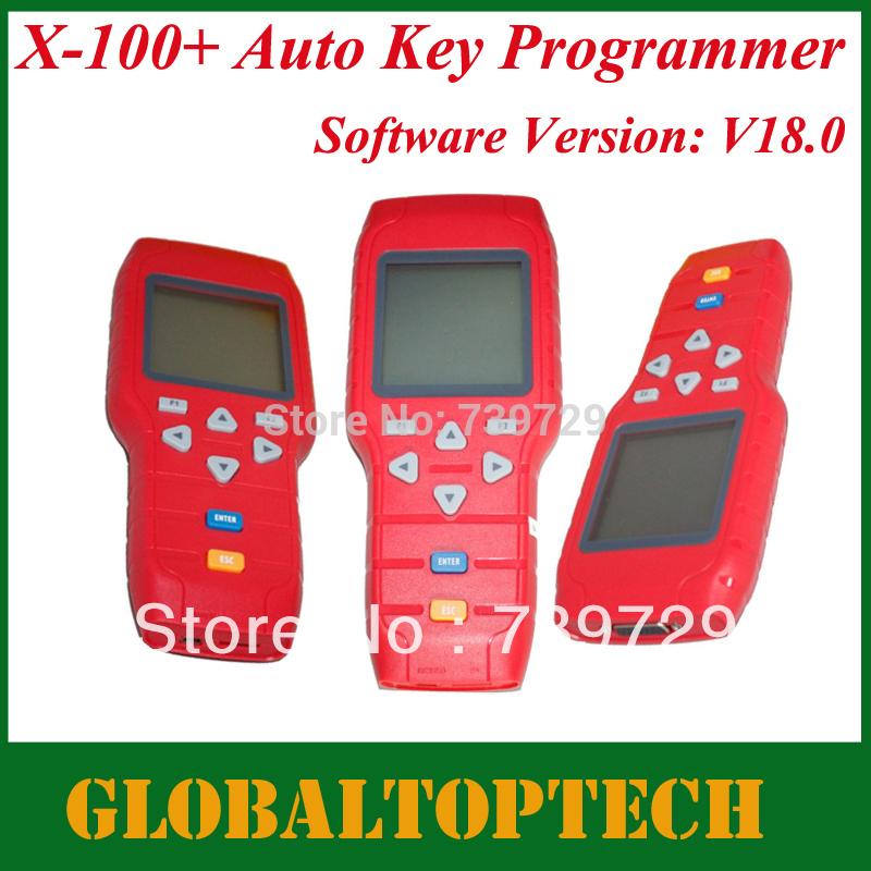 Dhl livre 2014 nova lançamentos A + qualidade Original X100 programador chave V18.0 versão X-100 Auto chave programador X 100 programa chave(China (Mainland))