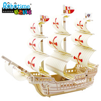 3d puzzle wool assembling model ship saint ba502