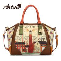 Hot-selling Fashion women handbag sweet vintage print smiley women's the trend handbag big cross-body handbag free shipping