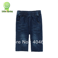 Children's pants ! New arrival ! Children crop jeans slid + letter good quality ELZ-K0075