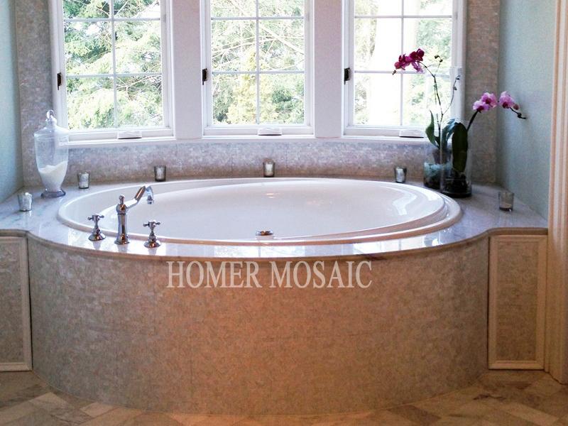 Witte Mozaiek Tegels Keuken : White Mother of Pearl Mosaic Tile ...