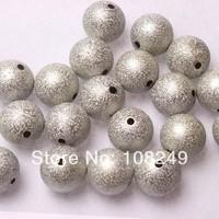 Free shipping round 20mm acrylic glitter stardust/wrinkle beads for chunky nekclace.Jewlry silver stardust metallic beads