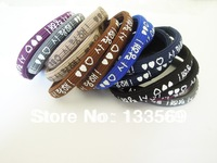 Candy color Hair Elastic band with print