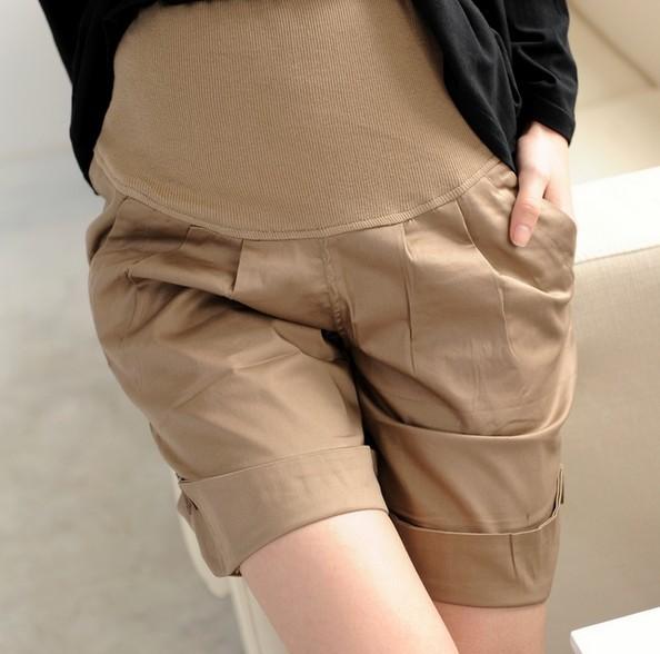 Maternity Summer Pants Khaki 2013 Women Belly Pants Capris for Pregnant Women Big Size Trousers Plus Size Clothes Pants