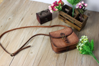 handmade hard bags commercial cowhide casual bag one shoulder  tote bag  veg tanned 081