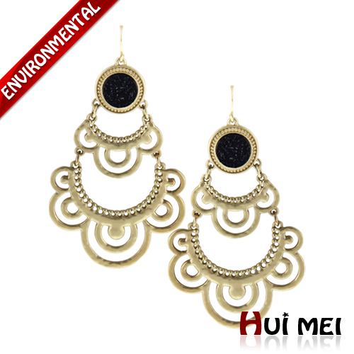 Free Shipping New Arrival Fashion Women Colorful Charms Laser Resin Lace Shaped Hollow Pendant Statement Drop Earrings Jewelry(China (Mainland))