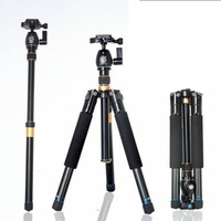 Professible Portable Magnesium Aluminium Tripod Monopod Q-555 Tripod+ Ball Head+ Pocket Kit very light,Free shipping