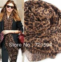 Free shipping 2013 New Fashion Autumn And Winter Female Leopard Print Scarf Super Long Shawl/Scarf  For Women/Hijab/shawl