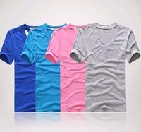 12 color mens t shirts fashion 2014 new clothing high-elastic cotton men's short sleeve v neckcamisetas masculinas male T-shirt