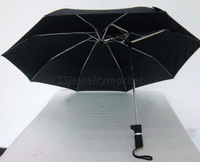 Free Shipping Novelty High Wind Resistance Stable Intensified Fibreglass Sun Rain Umbrella Anti UV Parasol