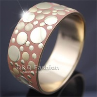 Chic Multi Gold Sequins Disc Dot Orange Chunky Wide Bracelet Bangle Costume Boho Jewelry Free Shipping